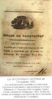Ley de Colonizacion Estado de Tamaulipas 1833