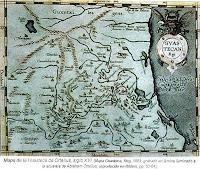 Mapa de la Huasteca Ortelius siglo XVI