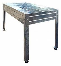 Mesa de cultivo de acero galvanizado