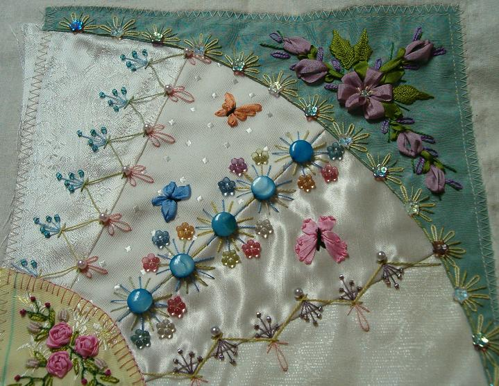 see detailshere are close-ups of the Silk Ribbon Embroidery areas