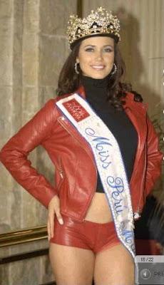 Maju Mantilla con su corona Miss Perú Mundo