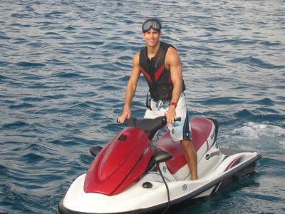 Kevin Gould en moto acuática