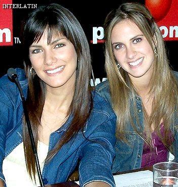 Emilia Drago con la modelo peruana Caty Caballero
