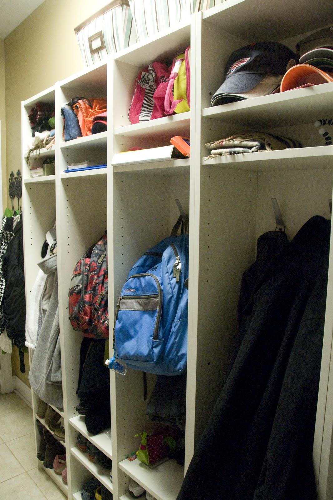 Mudroom Storage Lockers Ikea : Make your own mud room lockers the polkadot chair
