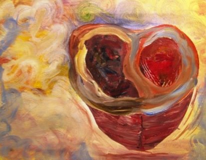 Acrylic on Canvas:  An Open Heart