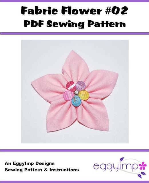 Fabric Flowers Pattern Fabric Flower 02 Pdf Sewing