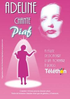 affiche soirée Piaf