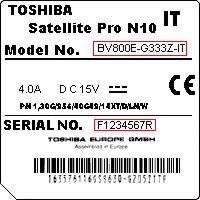 Toshiba serijski broj