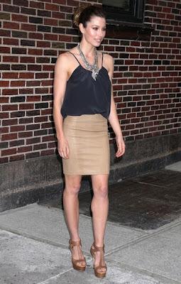 Jessica Biel Layered Gemstone Necklace