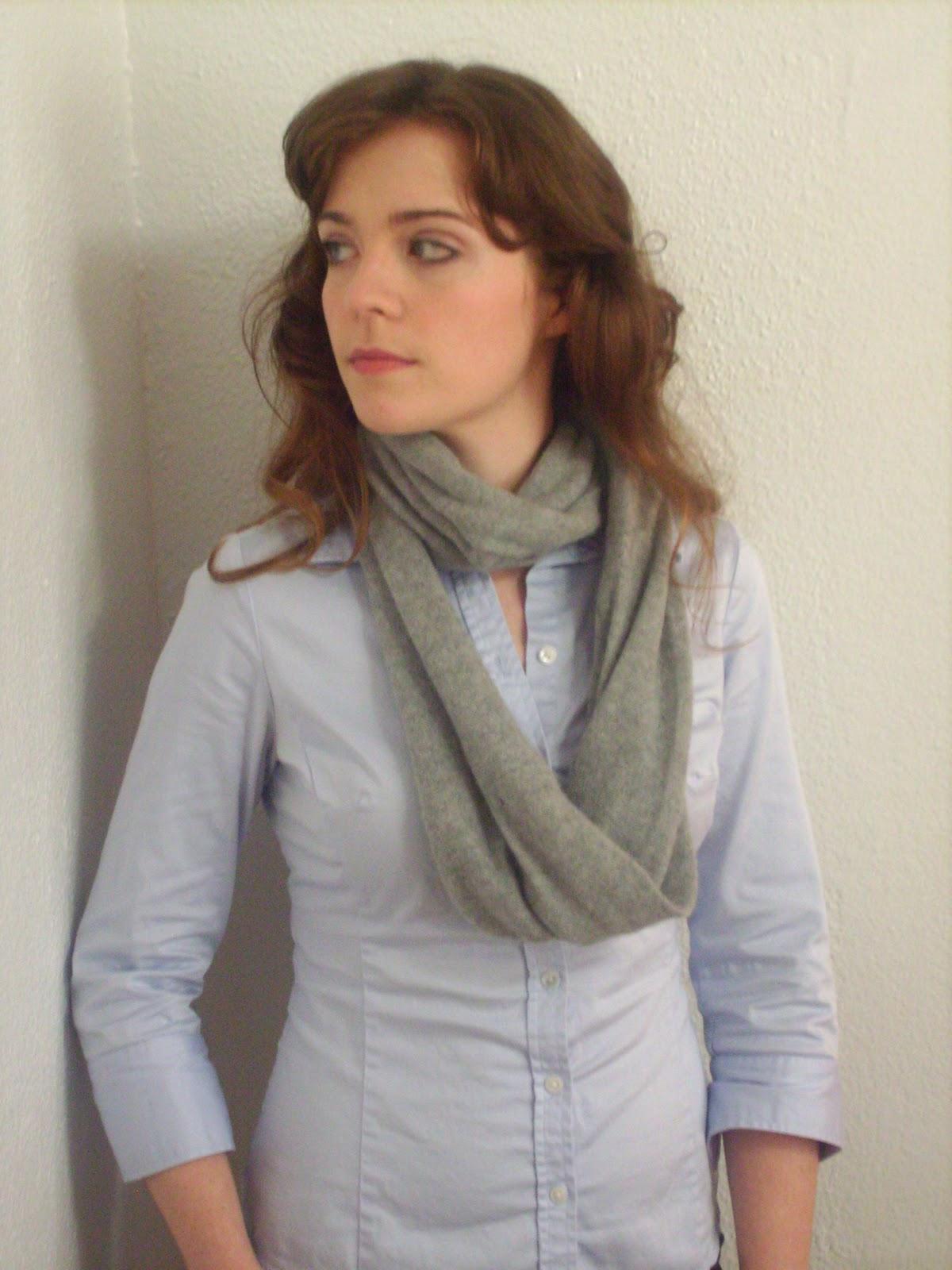 Как из шарфа сделать хомут