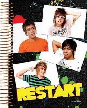 Cadernos da banda Restart 2011 2