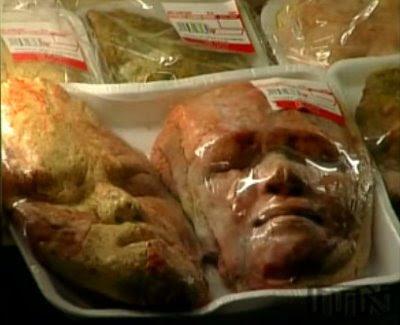 Pães em formato de cabeça humana