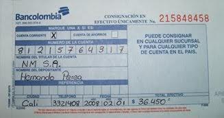 Contabilidad Recibo De Consignacion Bancaria