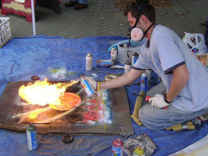 Toast Burnt More Of My Spray Paint Art