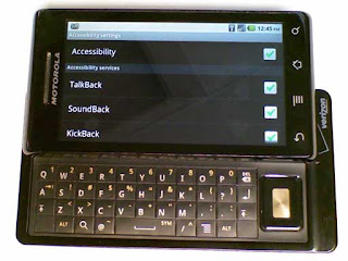 Droid first generation mobile phone with physical keyboard