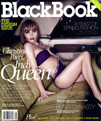 Christina Ricci's Sexy Blackbook Cover
