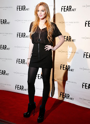 Lindsay Lohan at FEARnet 2nd Anniversary