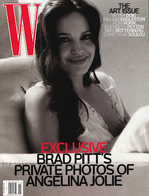 Angelina Jolie W Magazine Cover as Taken by Brad Pitt