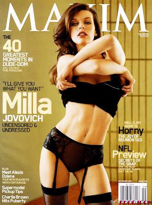 Milla Jovovich Maxim Cover Sept 2009