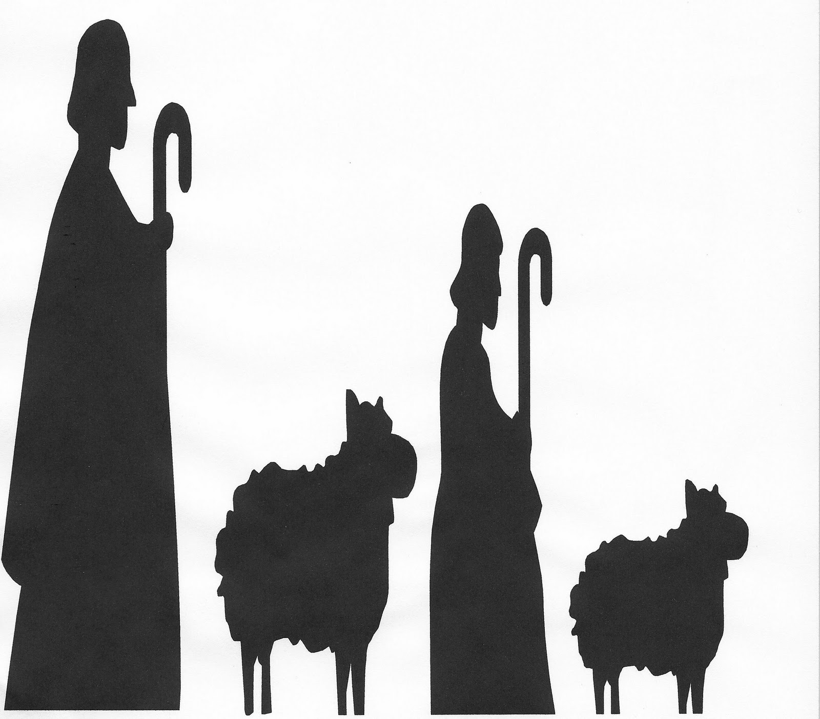 Simple Nativity Scene Silhouette Images & Pictures - Becuo