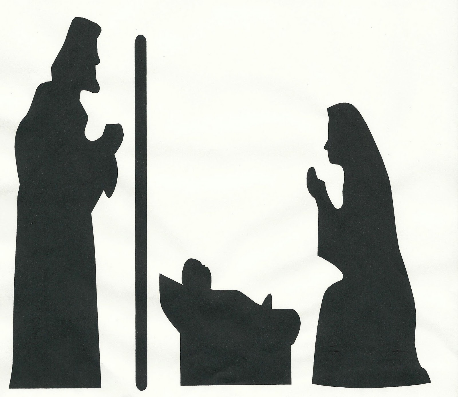 Nativity Silhouette Clip Art November 9th-r.s. activity