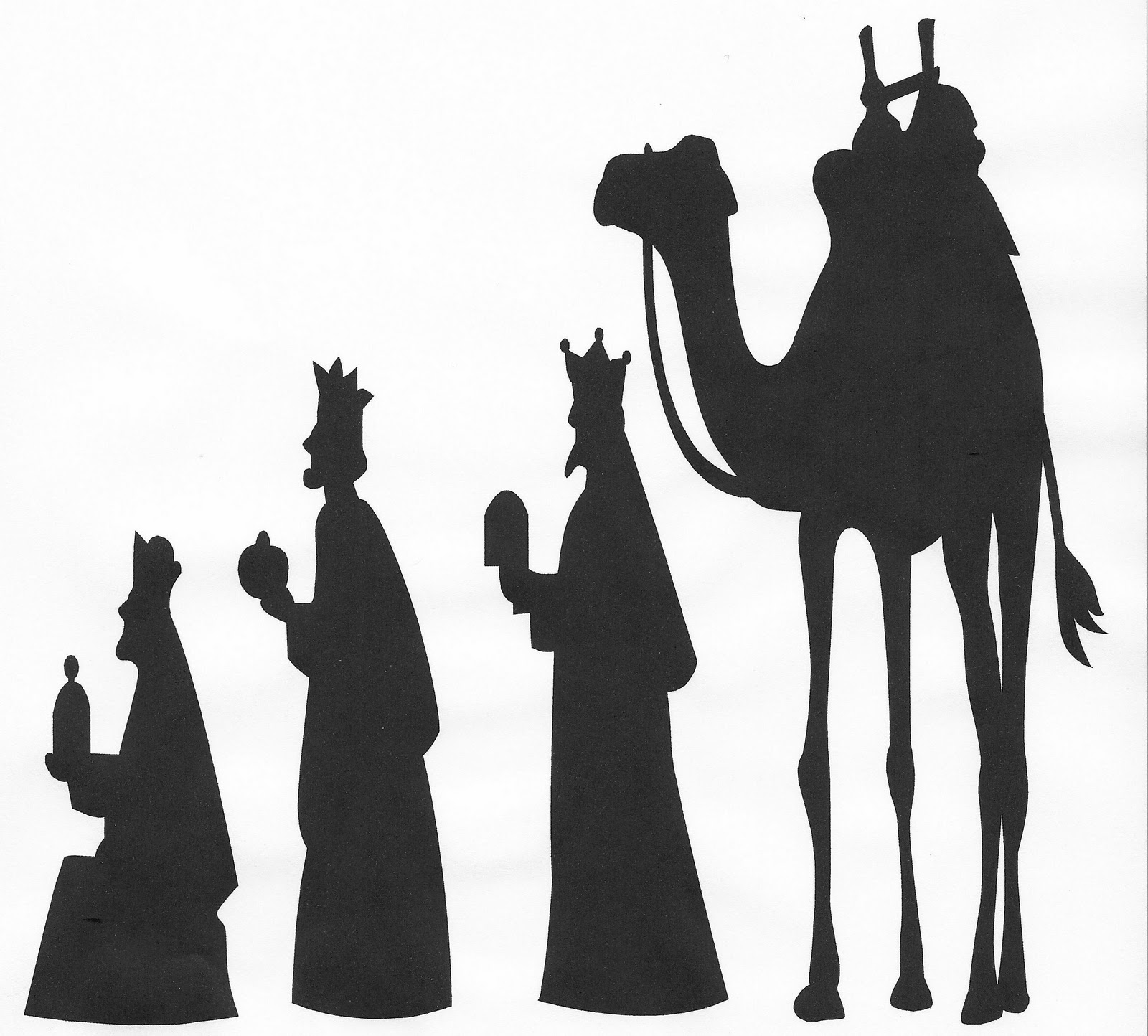 Three Wise Men Silhouette Clip Art Vinyl silhouette cut-outs