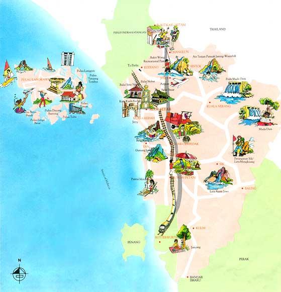 CutiCuti Malaysia Kedah - Alor setar map