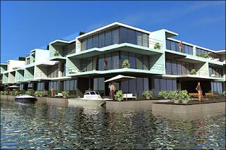 model of floatable housing