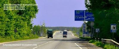 Автодорога М-06 Киев-Чоп. Объезд г. Житомир км 140