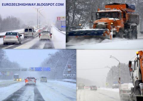 Состояние автодороги М-05 Киев - Одесса декабрь-2009 Украина