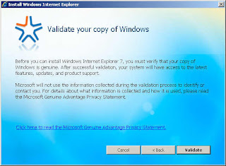 Validate your copy of Windows