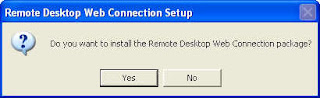 Remote Desktop Web Connection Setup