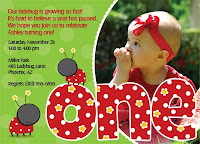 2nd Birthday Invitations Ladybug