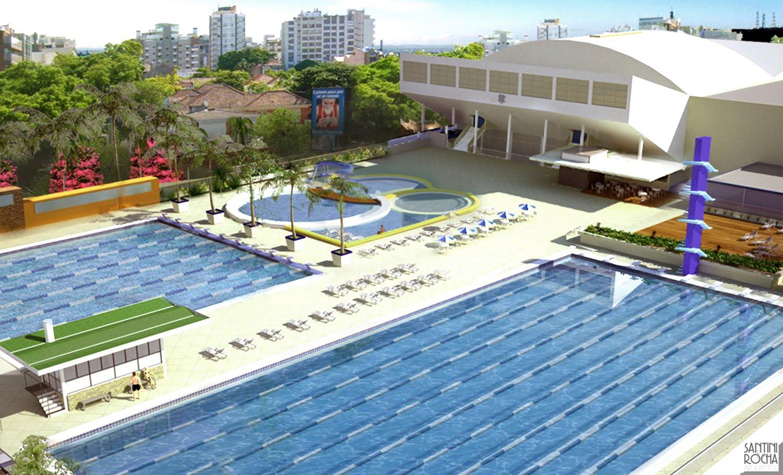 Jornal do aut dromo lbum 06 santini e rocha arquitetos for Metros piscina olimpica