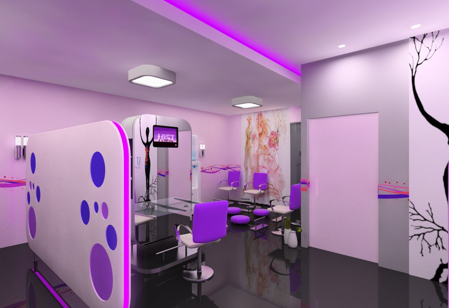 Hair salon interior design 2013 joy studio design for Beauty parlour interior designs
