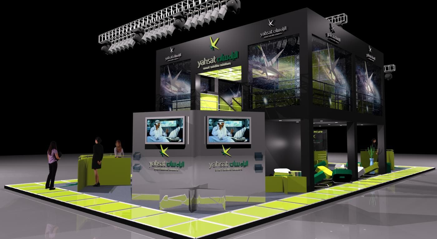 Exhibition Stand Design Images : Gurooji design yahsat exhibition stand