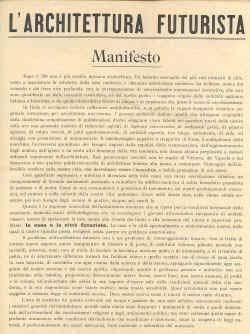 Futurismo manifesto dell 39 architettura futurista for Architetto sant elia