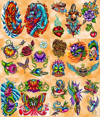 Flash Tattoo Crazy - Tattoo - Design