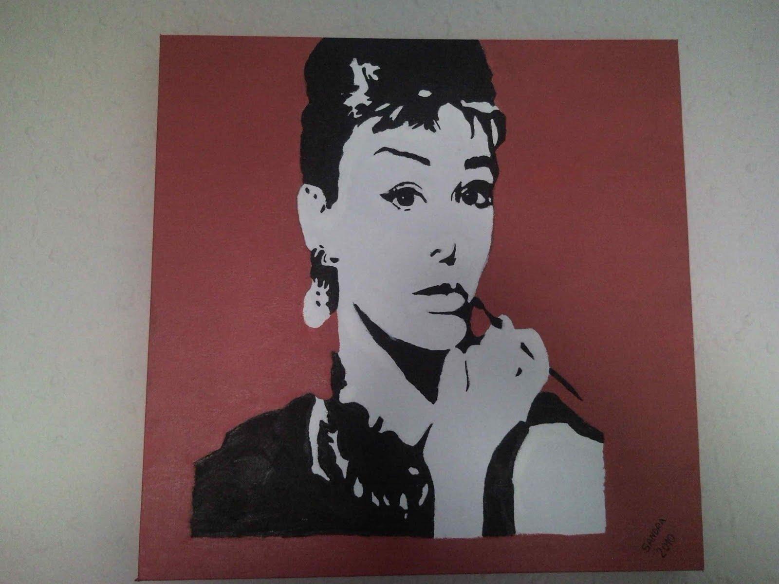 Sandra pop art audrey hepburn - Audrey hepburn cuadros ...