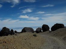 Bombas volcánicas. Montaña Blanca. Cañadas del Teide