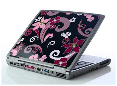 Laptop Motif Bunga