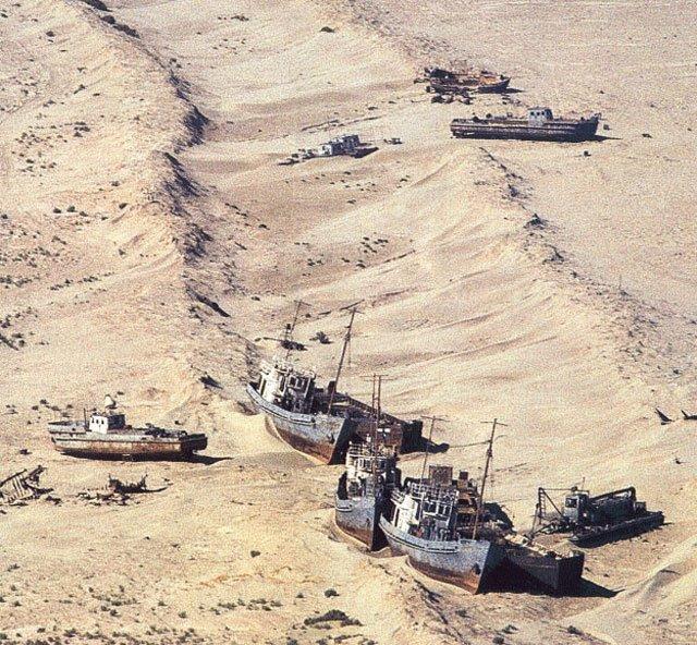 Laut aral, laut di asia tengah yang mengering karena pemanasan global