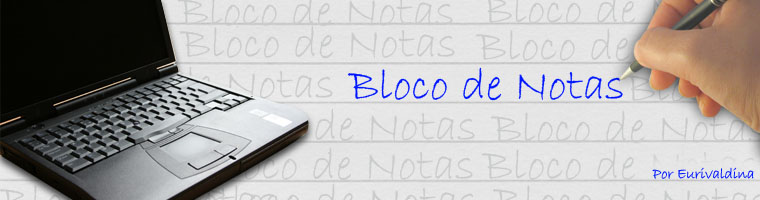 Bloco de Notas.