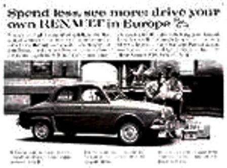 Anuncios. 1959 Renault