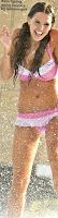 Danielle Lloyd Sexy Pink Bikini Pictures