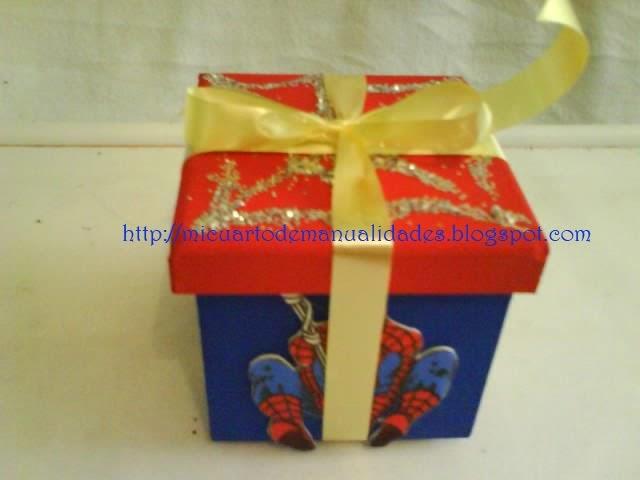 Mi cuarto de manualidades esther dulceros con cajas for Cuartos decorados hombre arana