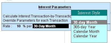 Interest parameters billbybill