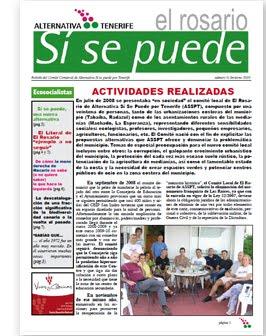 Primer boletín del comité El Rosario de Alternativa Sí se puede