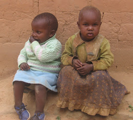 Children Waiting Outside Wambua Home