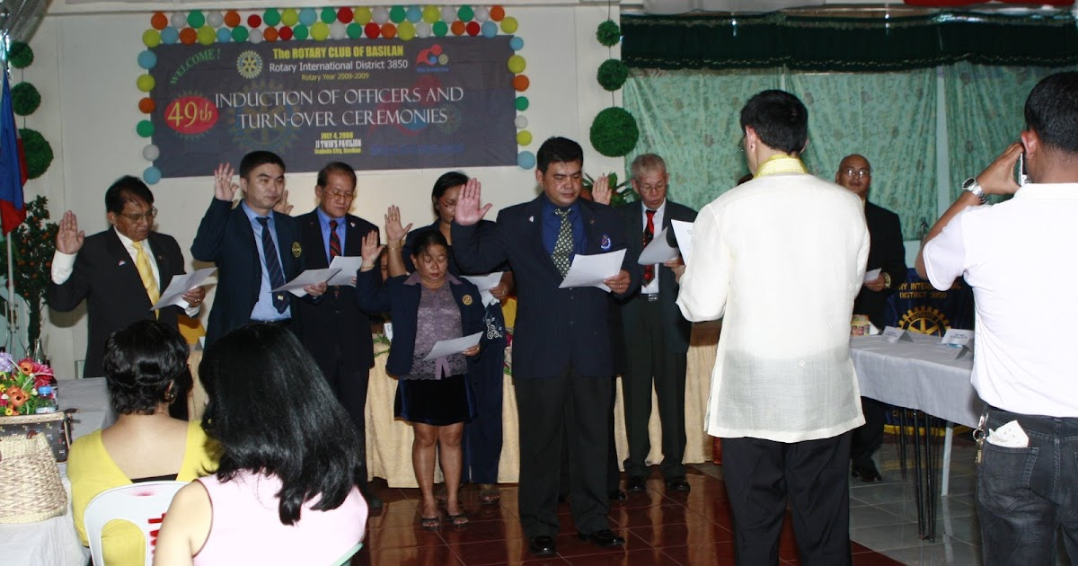 ROTARY CLUB OF BASILAN Rotary Club Of Basilan Induction And